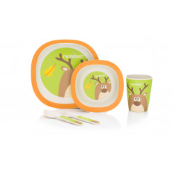 Set de masa 4 piese Bambus green orange Fillikid