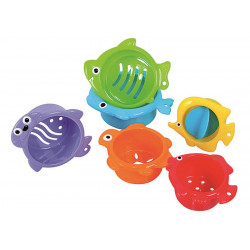 Jucarii baie Under the sea, pestisori 6/set, 6L+ A Haberkorn